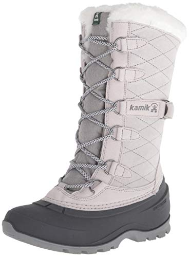 Kamik Women's Snovalley3 Snow Boot, Light Grey, 9