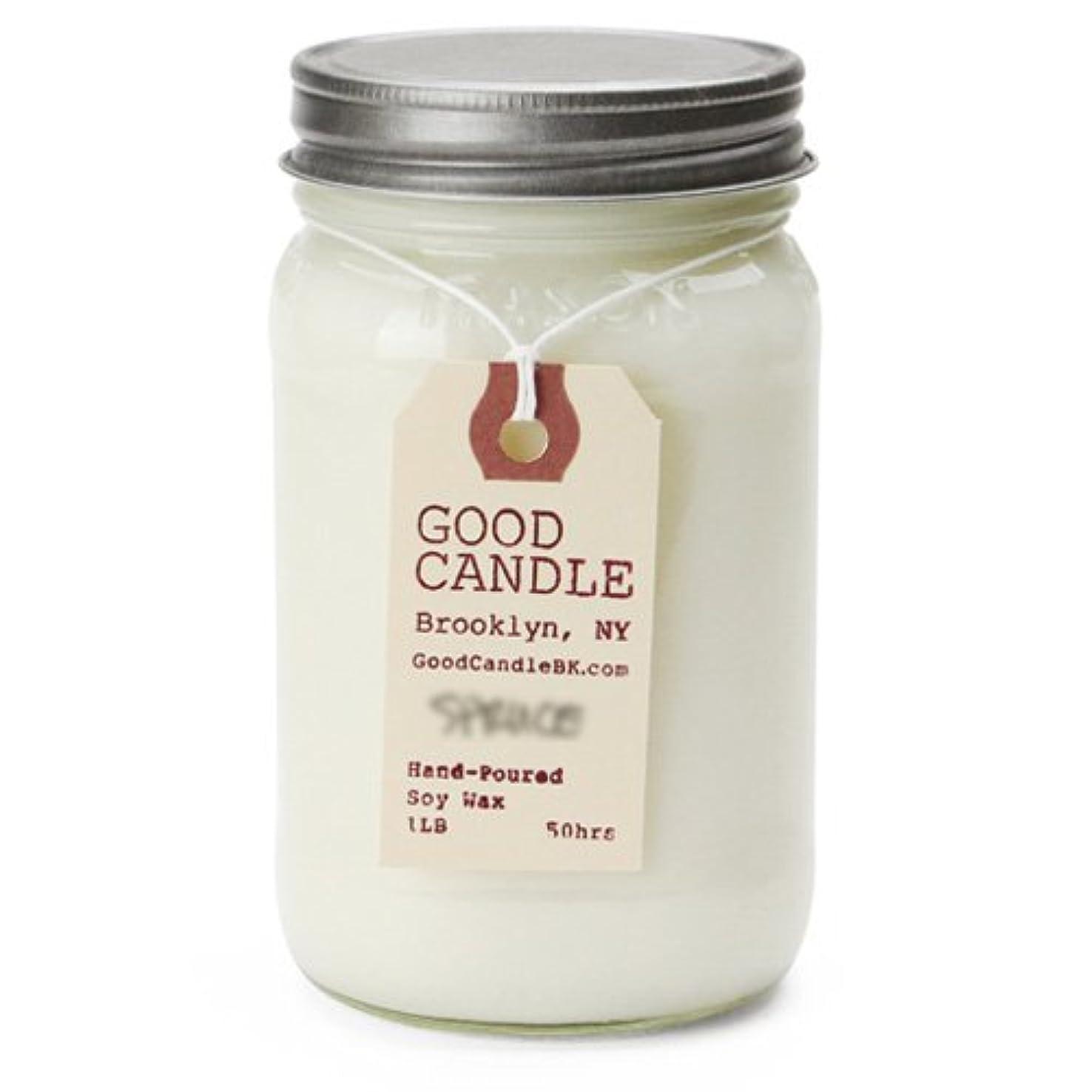 いたずら甘い懐疑的グッドキャンドル 1ポンド メイソンジャー キャンドル Good Candle 1LB Mason jar candle [ Spruce ] 正規品