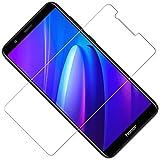 TOCYORIC Verre Trempé pour Huawei Honor 7X [3 Pièces], Protection D'écran, Film Protecteur Honor 7X, 9H Dureté, Anti Rayures, Installation Facile, sans Bulles