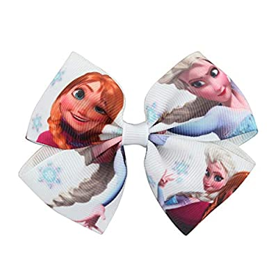"WeiHaoJian Frozen 3"" Girl Baby Hair Accessories Ribbon Bow Alligator Clip(H01) from WeiHaoJian"