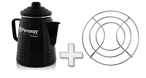 Petromax Spar-Set Perkolator Plus Drahtuntersetzer, Kaffekanne