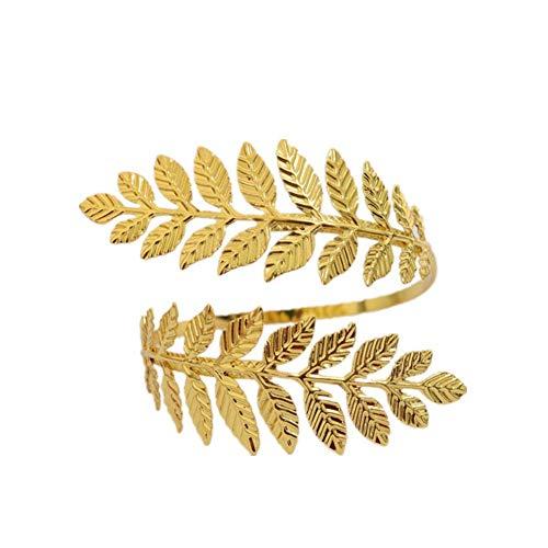 H2okp-009 Mode Frauen Metall Blatt Charme Offenen Armband Armmanschette Armreif Edlen Schmuck Trendy Casual Golden