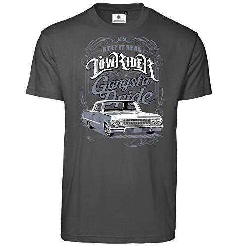 Customized by S.O.S Herren T-Shirt Gangsta Pride (L, Koks)