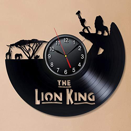 ZJIE Reloj de Pared de Vinilo Vinyl Wall ClockWall Clock For Kids Room Movie Theme 3D Clock Wall Clock Home Decoration