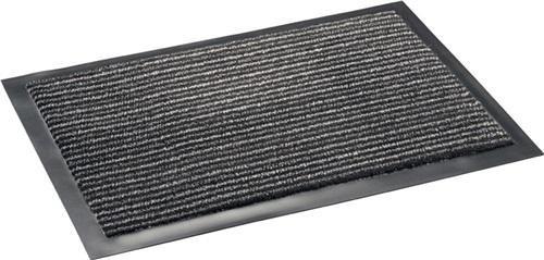 Deurmat antraciet B.600xL.800mm Maxi Dry Stripe