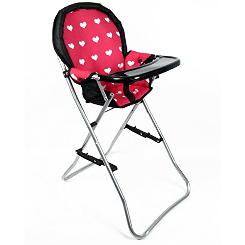 """The New York Doll Collection A166 18"""" Doll High Chair, Pink"""