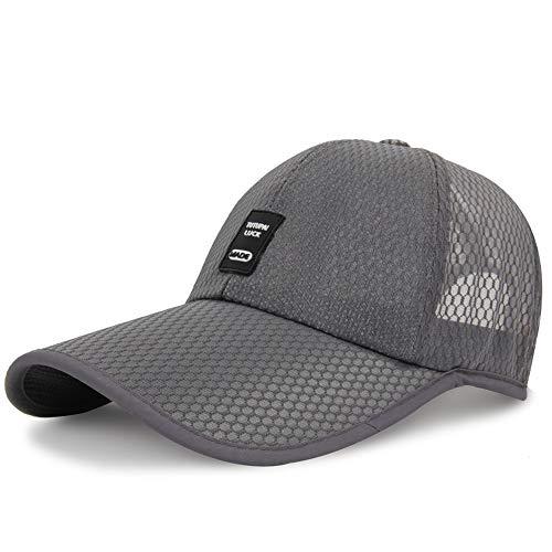 Afritz Anti-UV-Baseballmütze für Lange Rechnung mit luftigem Netz und atmungsaktiver Reisemütze für Wanderungen im Freien (Color : Light Gray)