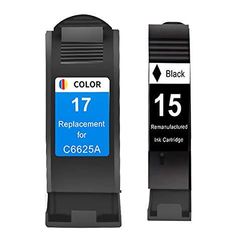 Reemplazo compatible con cartucho de tinta 15 17 para impresora de la serie HP 810c 825C 840c 842C 845c 870C 880C 890C 895C 920c-blackTricolor