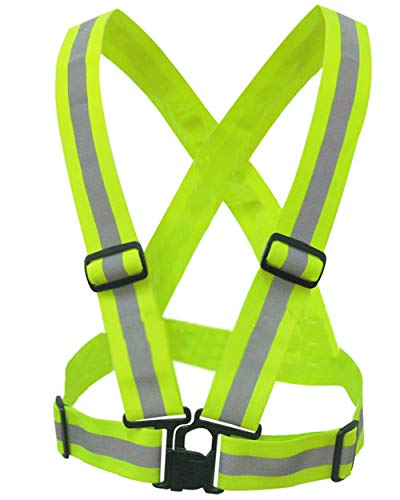 salerno(サレルノ) ナイトラン ブルベ 用 反射ベスト 安全ベスト ジョキング 自転車 バイク にも メンズ レディース 兼用 専用収納袋セット (イエロー)