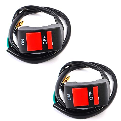 2 interruptores de manillar de 22 mm, interruptor de manillar de moto D - Marror eléctrico impermeable