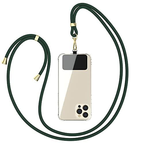 EAZY CASE Universal Handykette geeignet für alle Smartphones, Kette zum Umhängen, Hülle mit Kordel, Smartphonekette für Unterwegs, Handyband mit jeder Hülle kombinierbar, Grün