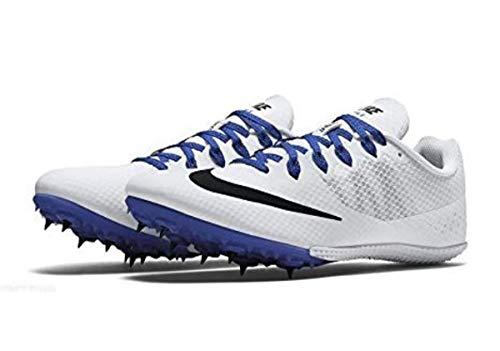 Nike Men's Zoom Rival S 8 Track Spike Running Shoe, 806554-100 (13 M US, White/Racer Blue/Black)
