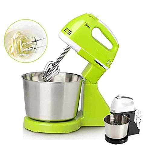 BaZhaHei Elektrischer Standmixer Stilvoller Küchenmixer 7 Geschwindigkeitsregelung Küchenmaschine Edelstahl-Rühlschüssel, Rührbesen, Knethaken, Schlagbesen