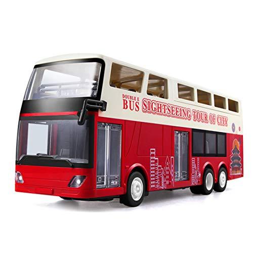 MARLO City Express Bus, 2,4Ghz RC Car Doppeldecker Touristen-Bus Stadtbus mit Beleuchtung Spielzeug für Kinder/Erwachsene
