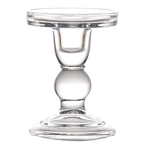 Goods-Store-uk Hoge Kandelaar Transparant Glas Kaarsenhouders Perfect Decoratie Kandelaars, M