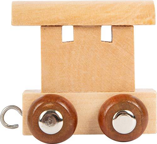Buchstabenzug | Wunschname zusammenstellen | Holzeisenbahn | EbyReo® Namenszug aus Holz | personalisierbar | auch als Geschenk Set (Abschluss Waggon)