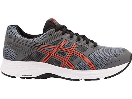 ASICS Men's Gel Contend 5 Running Shoes, 11M, Steel GreyRED Snapper