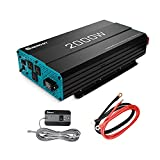Renogy 2000W 12V Pure Sine Wave Battery Converter, ETL Listed with Built-in 5V/2.1A USB port,and AC Hardwire Port Solar Power Inverter