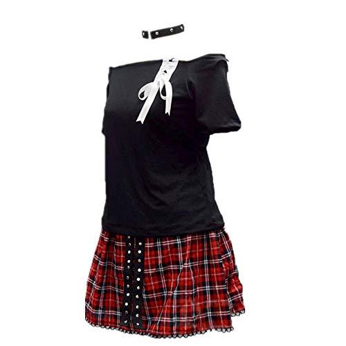 CHANGL 5PCS / Set Disfraz de Cosplay Carnaval de Halloween Asesinato Aula Shiota Nagisa JK Vestido de Uniforme Escolar Diario Trajes de Falda Lindos