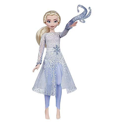 Disney La Reine des Neiges 2, Poupee Princesse Disney Électronique Elsa Découverte Magique, 27 cm