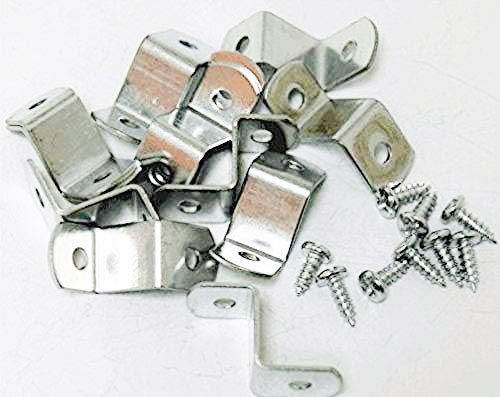 """3/4"""" Canvas Offset Clips Extra Heavy Duty with Screws 10 Pack"""