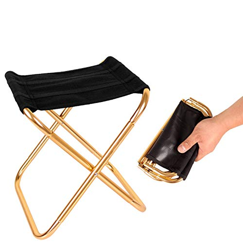Folding Camping StoolPortable ChairMini Portable Folding StoolFoldable StoolFishing Stool for Adults Fishing Hiking Gardening and Beach with Carry Bag
