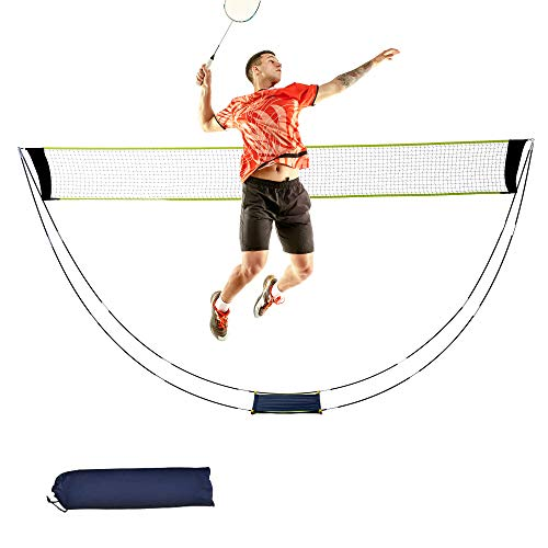 YAOGONG Badminton Net Set with Stand Carry Bag, Portable Foldable Volleyball net Tennis Badminton Set Net Rack – Easy Setup for for Outdoor/Indoor Court