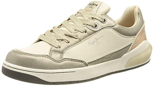 Pepe Jeans Marble Glam, Scarpe da Ginnastica Donna, 803off White, 37 EU