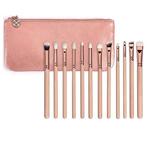 Juego de 15 pinceles de maquillaje profesional rosa de lujo de oro marca Make Up Kit de herramientas Powder Blend Cepillos cosméticos Set de lujo