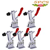 5 pack Hold Down Toggle Clamps Latch Antislip Red 201B Hand Tool 200Lbs Holding Capacity A...