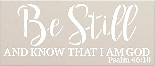 Be Still and Know I Am God Stencil by StudioR12 | Christian Bible Verse Psalm 46:10 | Farmhouse Faith Decor | Paint Wood Signs | Reusable Mylar Template | DIY Home Crafting | Select Size (23