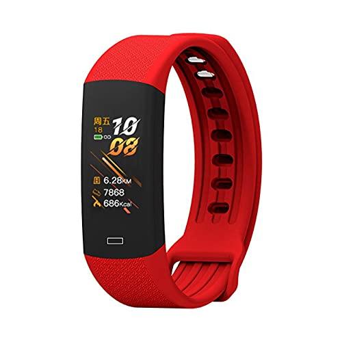 Ydh - Pulsera de fitness inteligente con monitor de temperatura corporal, actividad física, IP67, resistente al agua, correa inteligente, reloj de presión arterial F