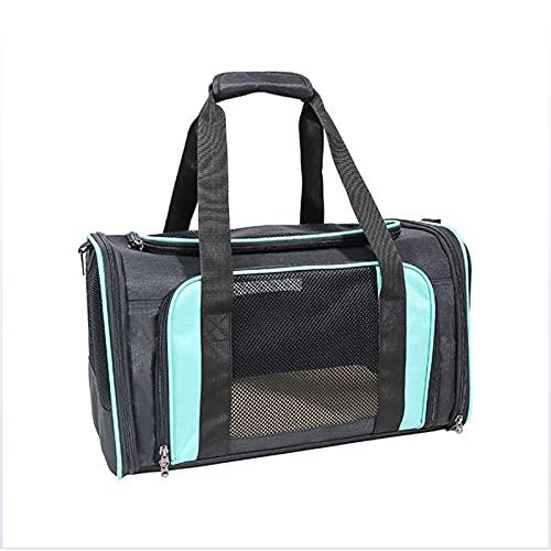 PPBB Bolsa de Transporte para Mascotas de Gran Capacidad para Exteriores, Bolsa de Viaje para Mascotas de Lados Suaves para Gatos, Perros, Gatitos o Cachorros, Plegable, Duradera,Azul