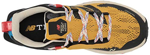 New Balance Men's Fresh Foam Hierro V5 Trail Running Shoe, Varsity Gold/NEO Classic Blue, 11.5 D US 6