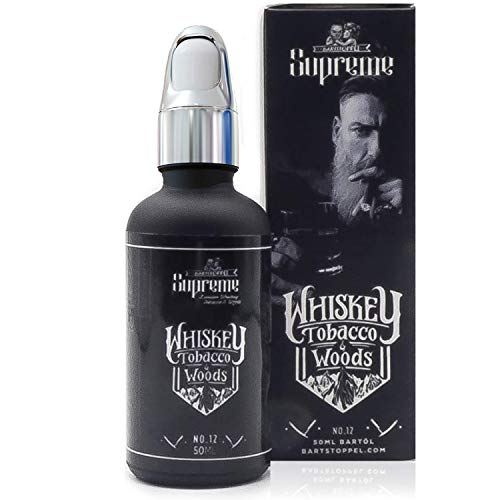 Bartöl Tabak Whiskey Oak - Beard Oil Premium Qualität 50ml - Intensiv langanhaltender Duft - Männlich Herb - Bartstoppel© Austria