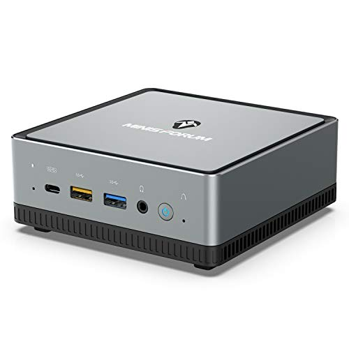Mini PC AMD Ryzen 5 PRO 2500U| 16 Go de RAM+ SSD M.2 de 512 Go| Radeon Vega 8 Graphics| Windows 10 Pro| Intel WIFI6 AX200 -BT 5.1| 4K HDMI 2.0/ Display/USB-C | 2XRJ45| 4XUSB 3.1 Petit facteur de forme