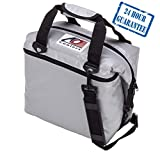 AO Coolers Sportsman Vinyl Soft Cooler with High-Density Insulation, Silver, 48-Can
