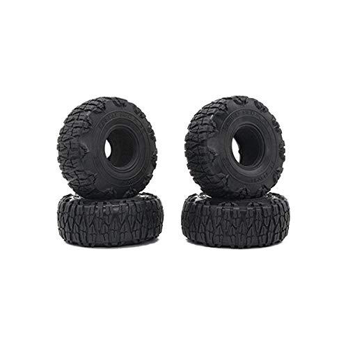 Nrpfell 4PCS 123MM 1.9 Rubber Rocks Reifen Radreifen für 1/10 RC Crawler Axial SCX10 90046 AXI03007 TRX4 D90 MST