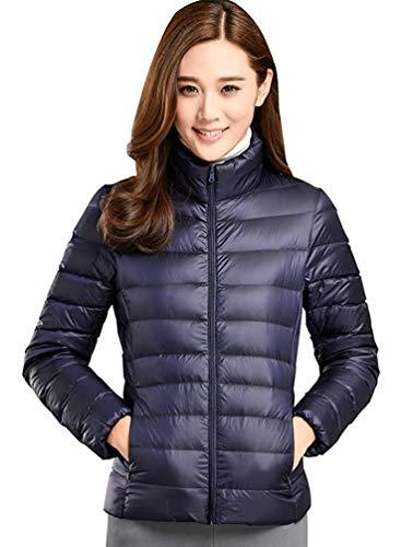 Ultralicht donsjack voor dames, lichtgewicht donsjack, gewatteerde jas, modieus, voor de winter, gewatteerde jas, herfstjas