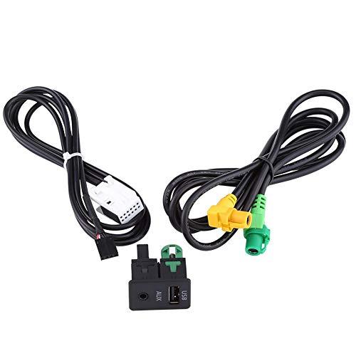 Auto USB Adapter Kabel, Keenso 1,5m PVC Kunststoff SB AUX Schalter Buchse Kabelbaum Kabel Adapter für 5er E87 E90 E91 E92 X5 X6