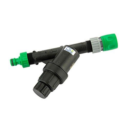 CS Bewässerungssysteme GmbH Wasserfilter 75 Micron mit Druckminderer 1.0 bar und Hahnanschluss und Schnellschlauchstück GL