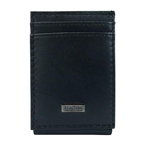 Kenneth Cole REACTION Men's RFID Front Pocket Wallet, Black Liberty, One Size