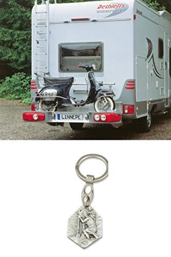 Zisa-Kombi Motorradträger Scout 120 kg (93298846679) mit Anhänger Hlg. Christophorus