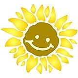Sonnenschablone – 25,5 x 25,5 cm (M) – Wiederverwendbare große Sonnenschein, Blume, Baby, Kinder, Kinderzimmer, lächelnde Sonne, Wandschablone