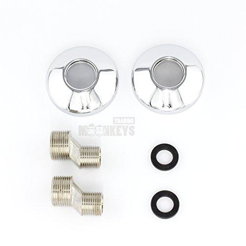 Trading Monkeys – Brausegarnitur mit Zweigriffmischer in Retro-Design, Chrom - 2
