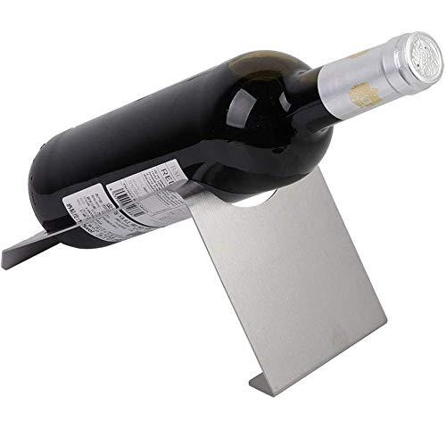 BFDMY Estante De Vino Moderno para 1 Estante De La Botella De Vino, Hecha De Decoración De Mesa De Mesa De Acero Inoxidable para El Hogar, Cocina, Armario/Decoración De Mesa De Encimera