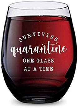 lowest Stemless Wine Glass for Surviving Quarantine at Home Made new arrival of lowest Unbreakable Tritan Plastic and Dishwasher Safe - 16 Ounces outlet online sale