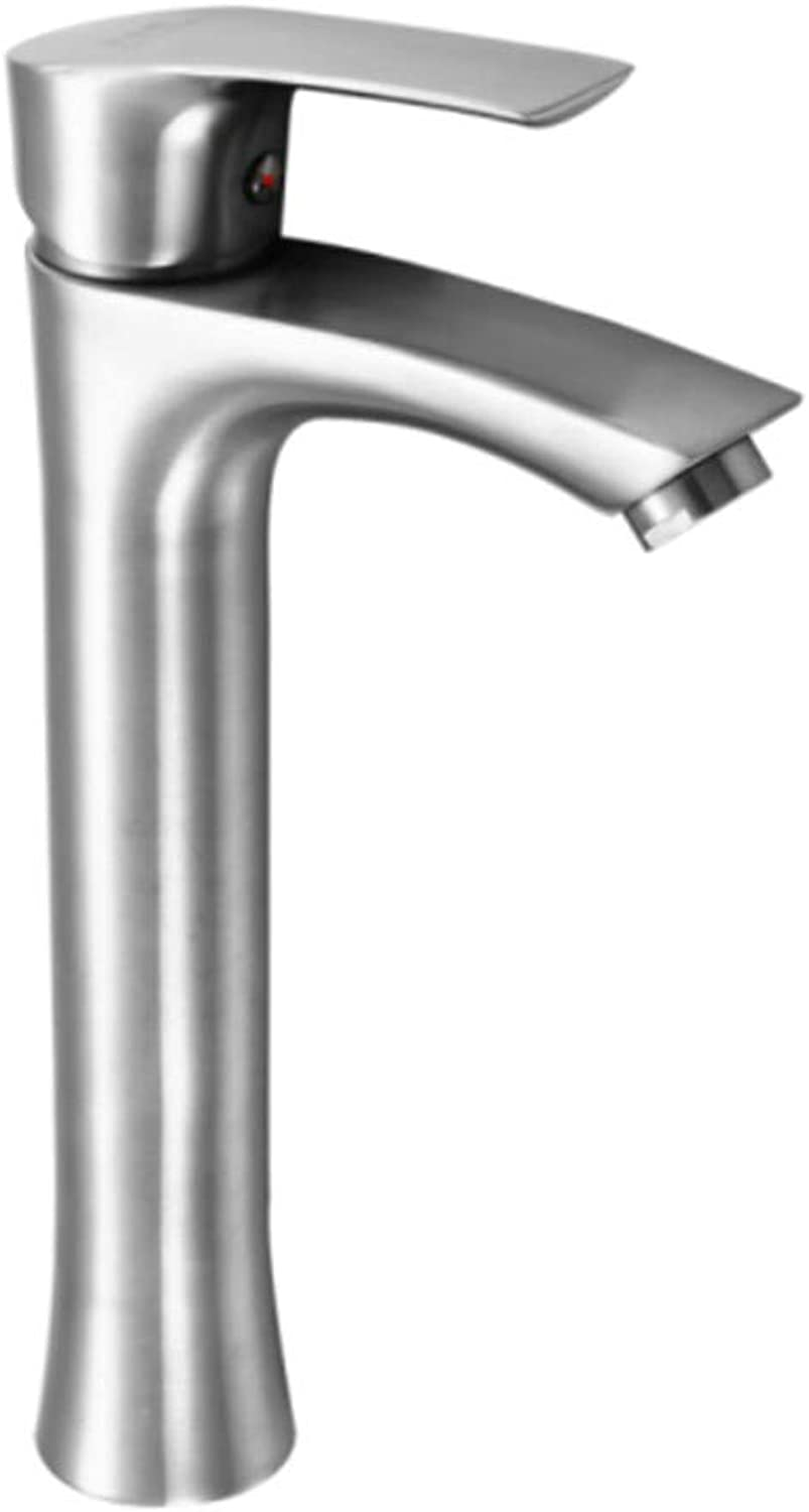 Basin Taps Swivel Spout Faucet 304 Stainless Steel Faucet Hot and Cold Height Basin Faucet Washbasin Faucet