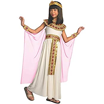 Girls Pink Cleopatra Costume Kids Egyptian Princess Dress Queen of The Nile Outfit - Medium  Age 7-9