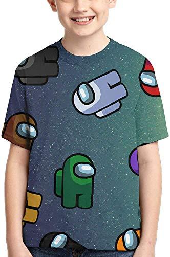 XCNGG Niños Tops Camisetas Among Us T Shirt Kids Youth Fashion 3D Print Short Sleeve for Boys and Girls
